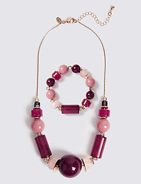 Berry Burst Necklace & Bracelet Set