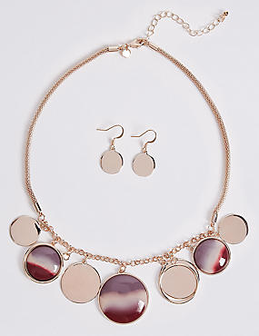 Jingle Disc Necklace & Earrings Set