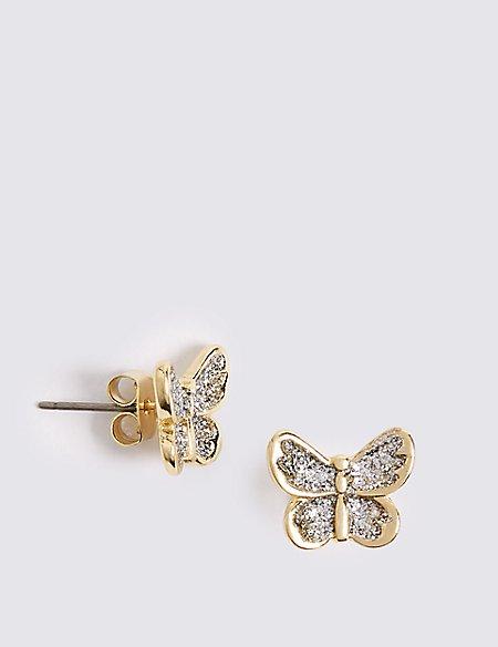 Miniature Butterfly Earrings