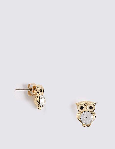 Owl Diamanté Earrings