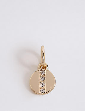Pave Disc Charm
