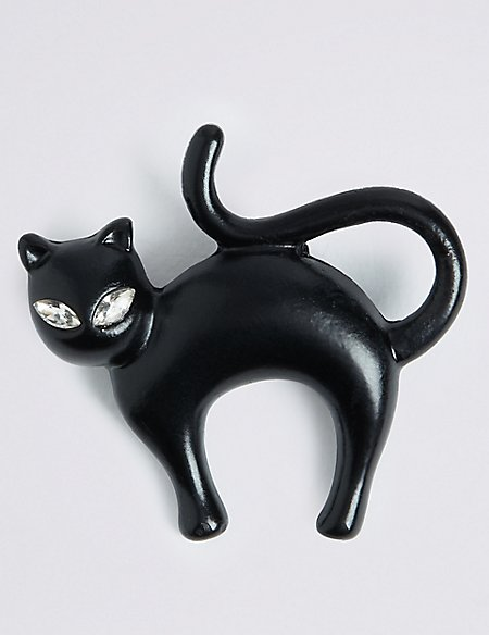 Halloween Cat Brooch
