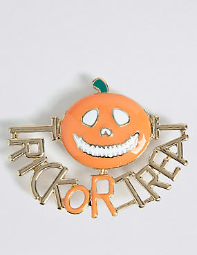 Halloween Trick or Treat Brooch