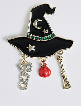 Halloween Witches Hat Brooch