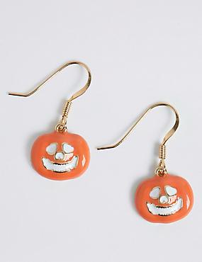 Halloween Pumpkin Drop Earrings