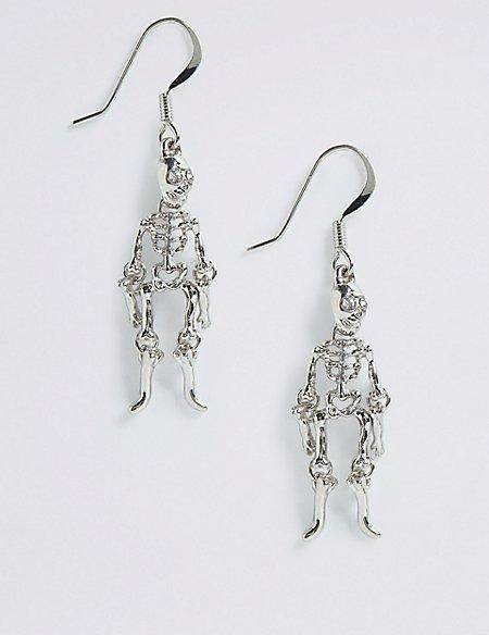 Halloween Hanging Skeleton Drop Earrings