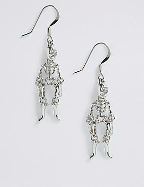 Halloween Hanging Skeleton Drop Earrings