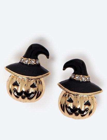 Halloween 2019 Pompoen.Oorknopjes Voor Halloween Met Pompoen Sieraden Horloges