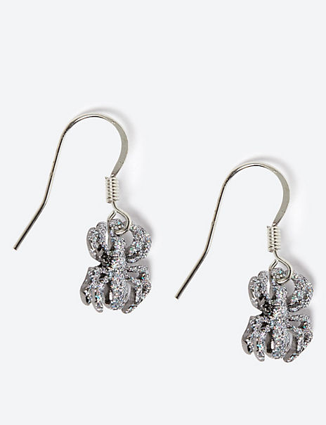Halloween Spider Drop Earrings