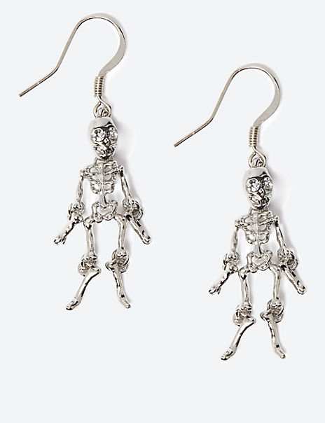 Halloween Skeleton Drop Earrings