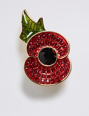 The Poppy Collection® Sparkle Brooch with Swarovski® Crystals