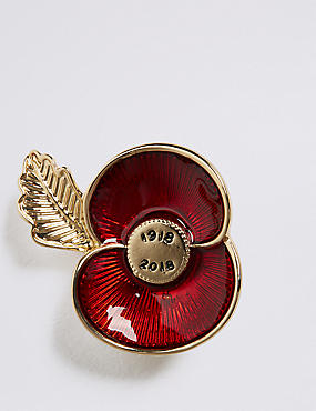 The Poppy Collection® Enamel Poppy Brooch