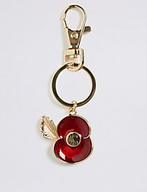 The Poppy Collection® Enamel Poppy Keyring