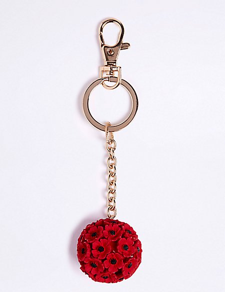 The Poppy Collection® Poppy Ball Keyring