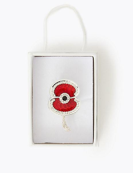 Hero Sparkle Poppy Brooch