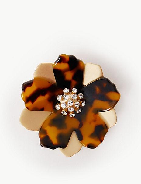 Flower Resin Brooch