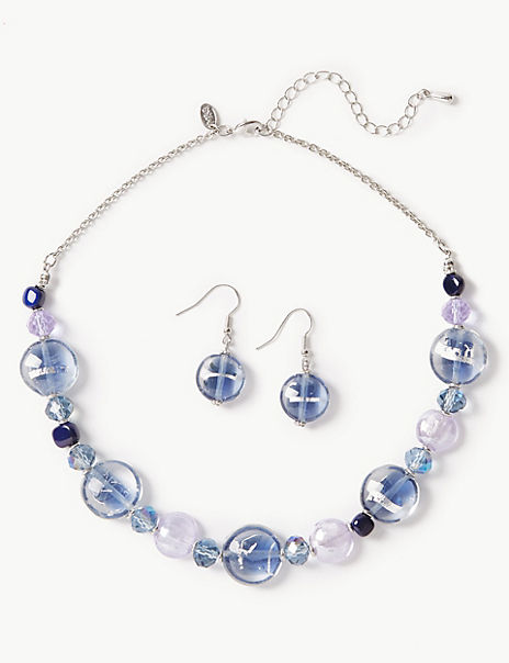 Spiral Necklace & Earrings Set