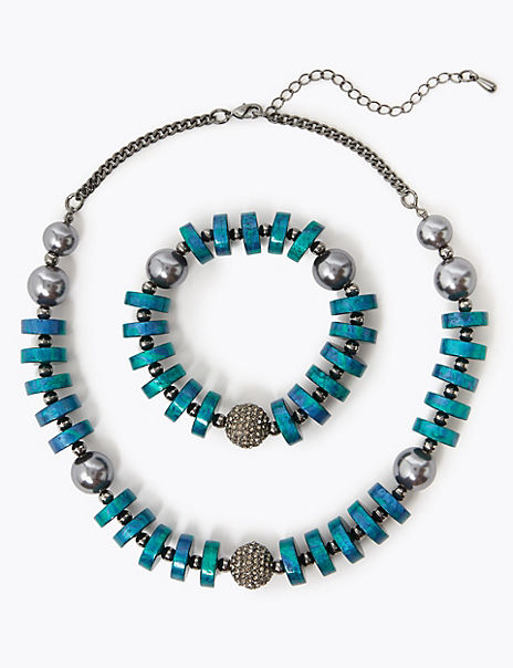 Disc and Ball Jewellery Set