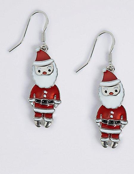 Jingle Santa Drop Earrings
