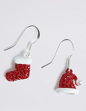 Hat & Boot Mismatch Drop Earrings