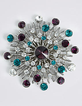 Gem Burst Brooch