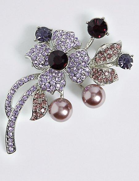 Floral Bouquet Brooch