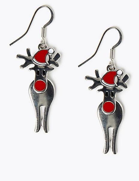 Reindeer Drop Earrings
