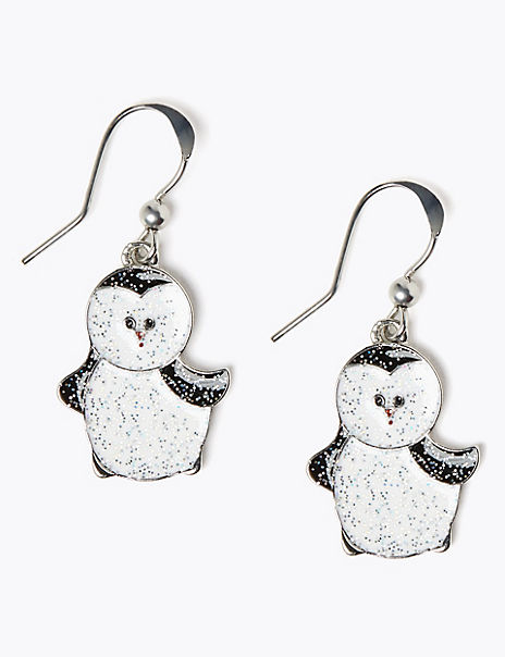 Penguin Drop Earrings