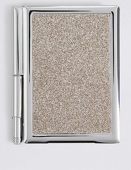 Small Glitter Notebook & Pen Set