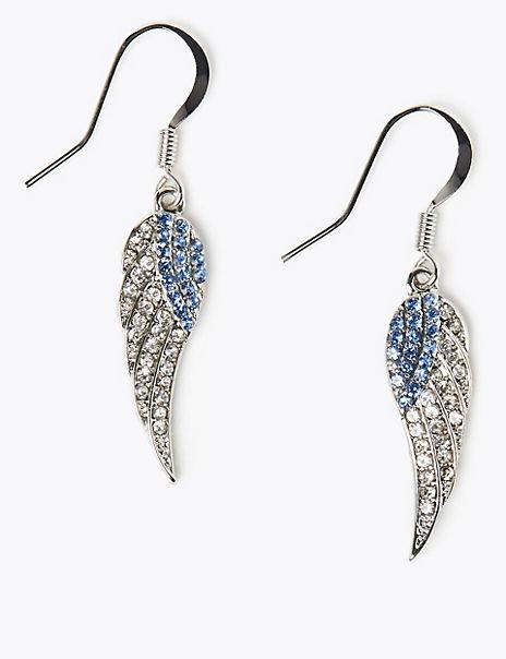 Angel Wing Drop Earrings