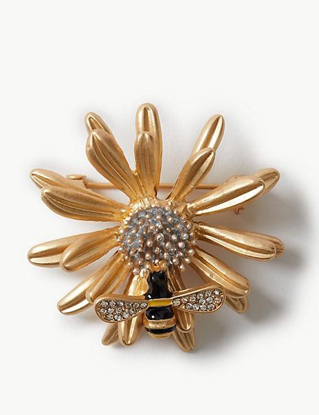 Sunshine Bee Brooch