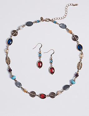 Mix Up Necklace & Earrings Set