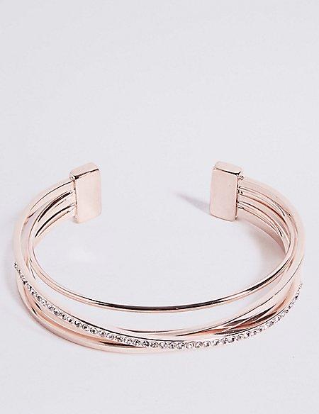 Cross Pave Bracelet