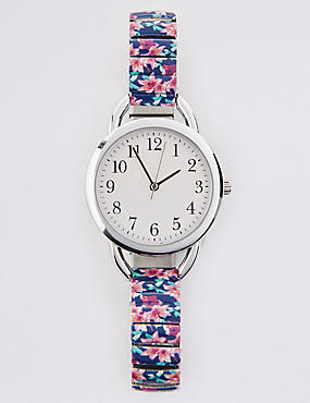 Round Face Tropical Expander Watch