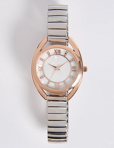 Roman Numeral Round Face Watch