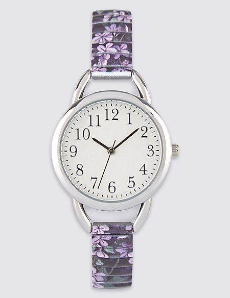 Round Face Oriental Expandable Watch