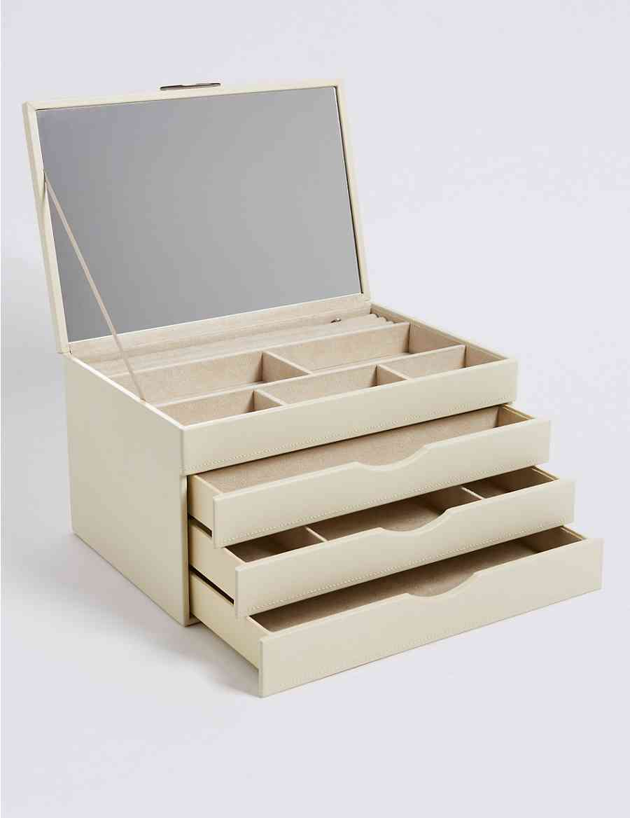 Rectangular Large Jewellery Box Ms Collection Ms