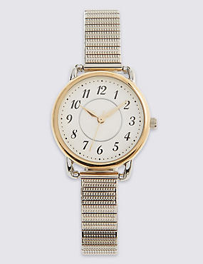 Round Face Expandable Watch