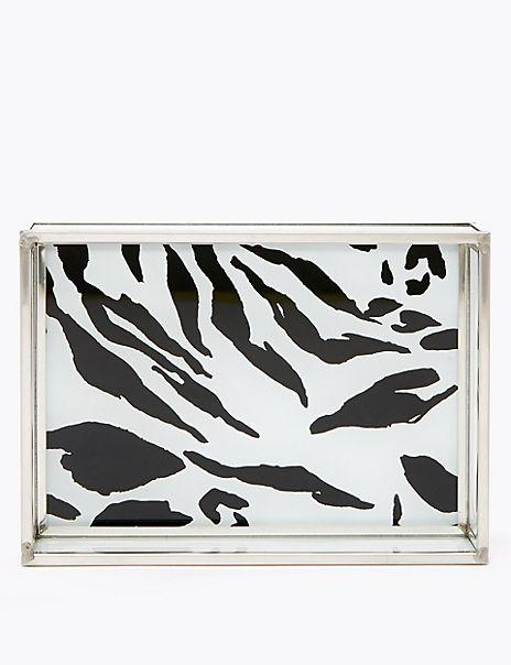 Zebra Print Acrylic Jewellery Storage Tray