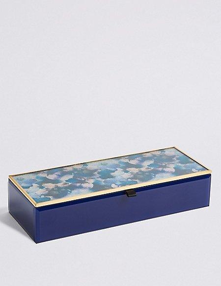 Rectangle Glitter Petal Jewellery Box