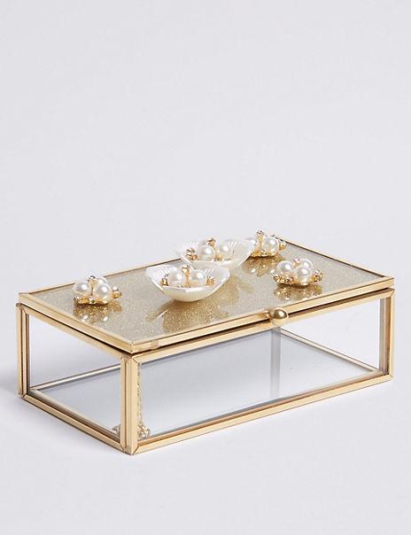 Small Brooch Flower Jewellery Box