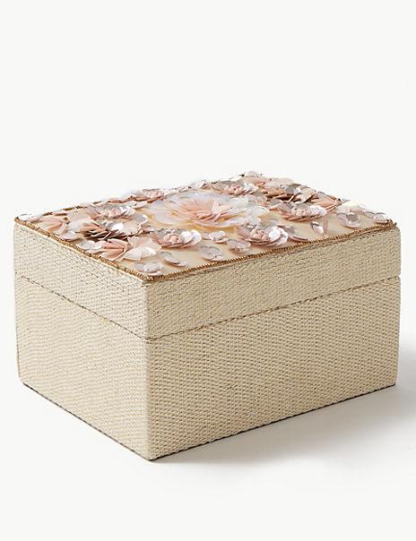 Medium Sequin Flower Jewellery Box
