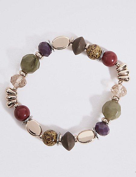 Etched Charm Stretch Bracelet