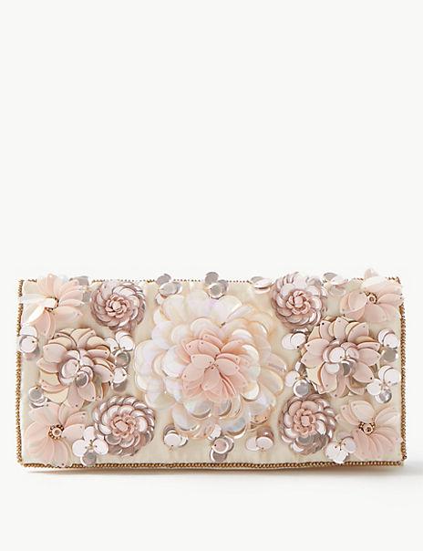 Sequin Flower Jewellery Wrap