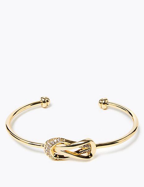 Gold Plated Knot Bracelet