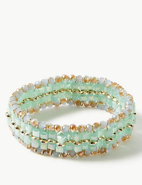 Wide Bead Bracelet