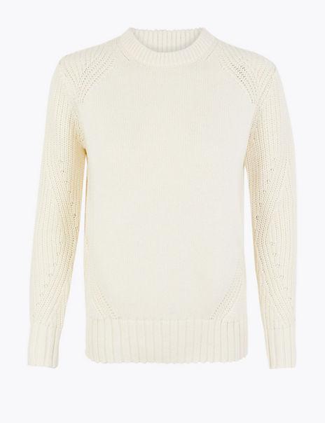 PETITE Cotton Twist Sleeve Jumper