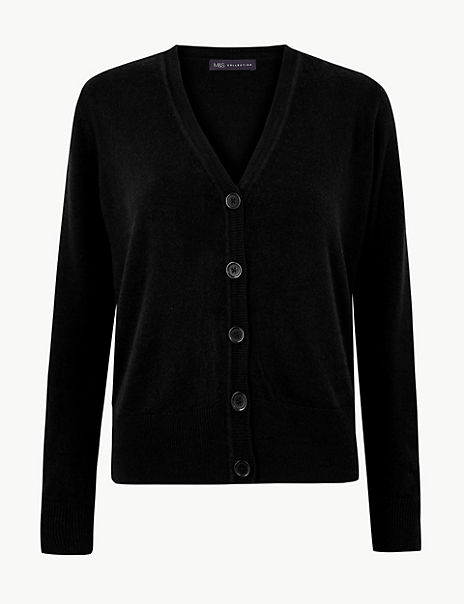 Textured Button Detailed Cardigan