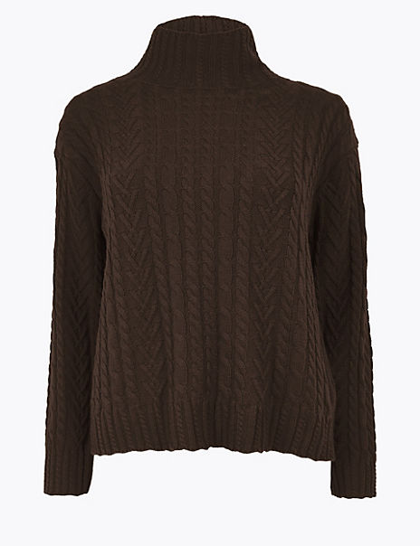 Cotton Rich Cable Jumper