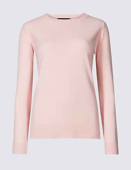 Cashmilon™ Round Neck Long Sleeve Jumper